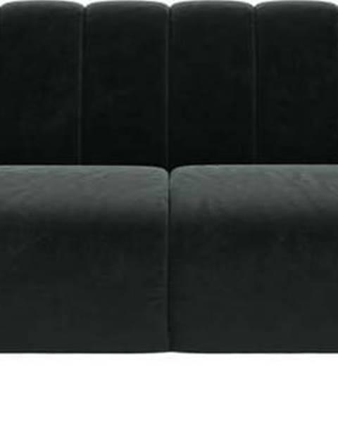 Ghado Tmavě šedá sametová pohovka Ghado Shel, 210 cm
