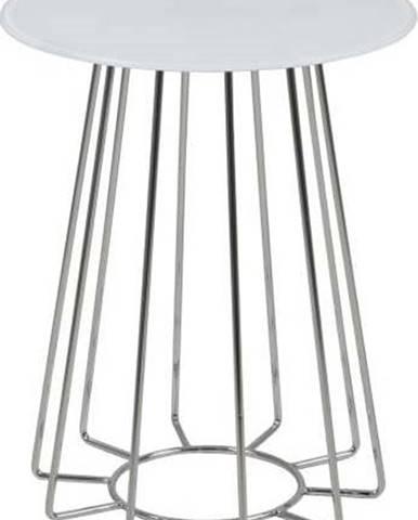 Bílý odkládací stolek Actona Casia, ⌀ 40 cm