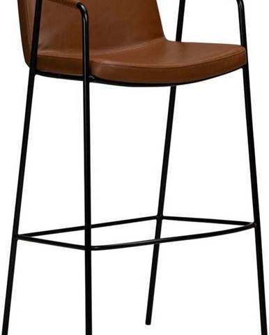 Hnědá barová židle z imitace kůže DAN-FORM Denmark Boto, výška 105 cm