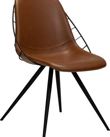Hnědá jídelní židle z imitace kůže DAN-FORM Denmark Sway