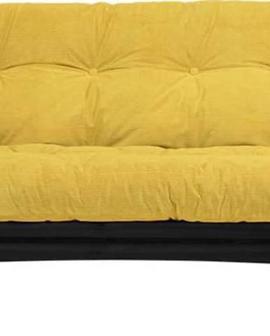 Manšestrová variabilní pohovka Karup Design Folk Black/Honey