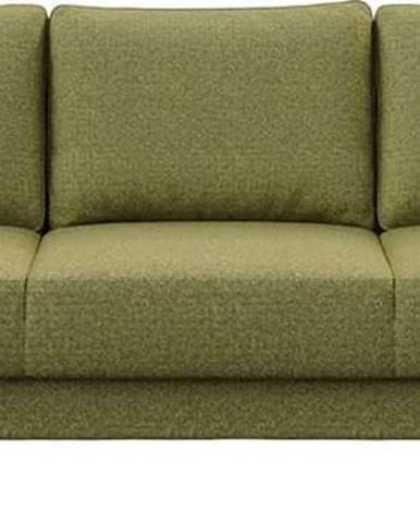 Olivově zelená pohovka Ghado Fynn, 233 cm