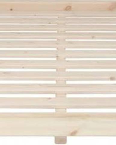 Postel z borovicového dřeva v přírodní barvě Karup Design Dock Natural, 160 x 200 cm
