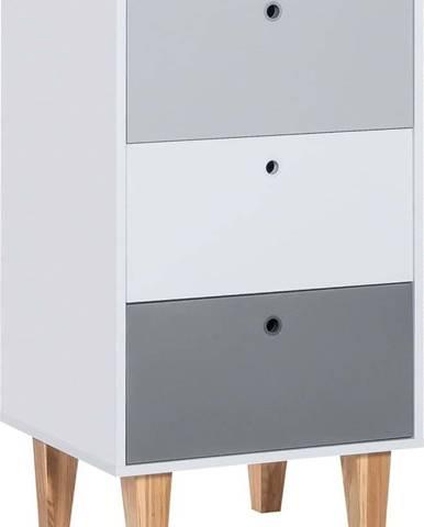 Šedá komoda Vox Concept, 53,5 x 96,5 cm