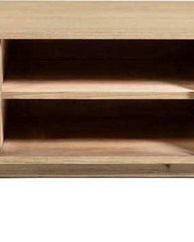 Světle hnědý TV stolek z masivu La Forma Nalu, 150 x 50 cm
