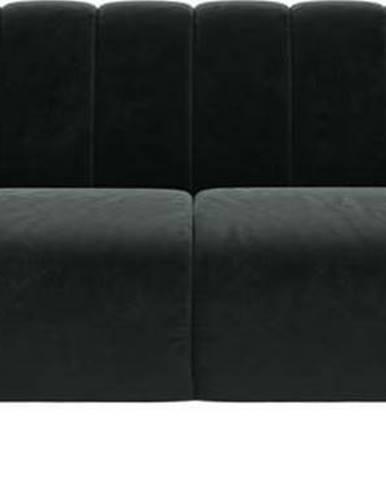 Tmavě šedá sametová pohovka Ghado Shel, 210 cm