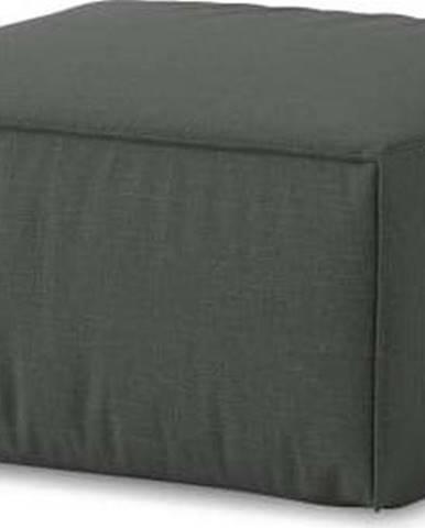 Tmavě šedý puf Cosmopolitan Design Miami, 65 x 65 cm
