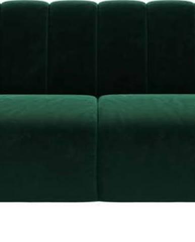Tmavě zelená sametová pohovka Ghado Shel, 210 cm
