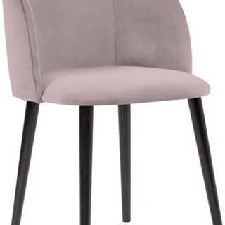 Půdrově růžová jídelní židle se sametovým potahem Windsor & Co Sofas Aurora