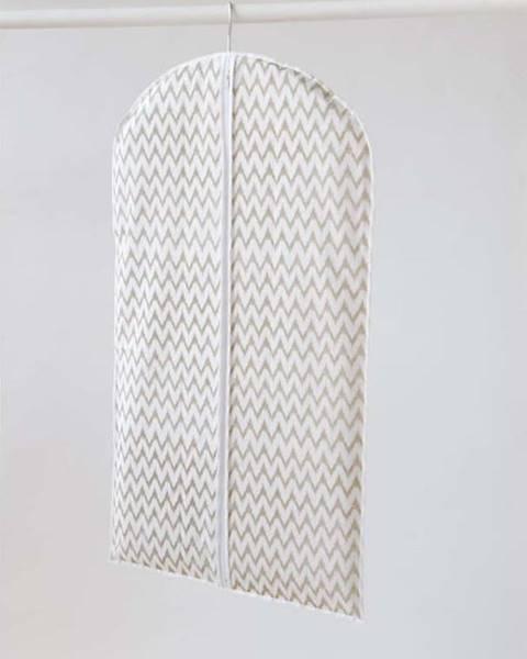 Compactor Bílý textilní závěsný obal na šaty Compactor Clear, délka 100cm