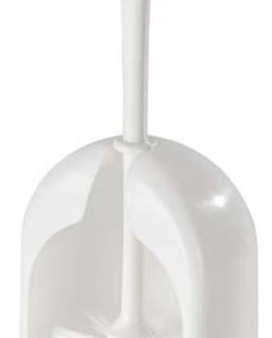 Bílý plastový toaletní kartáč Wenko Standart