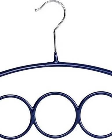 Modré protiskluzové ramínko na šály a šátky Wenko Hanger Olympia
