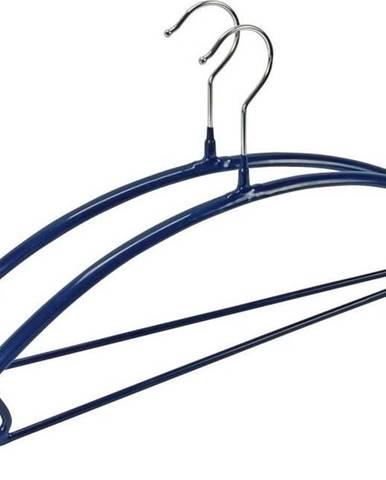 Sada 2 modrých protiskluzových ramínek na oblečení Wenko Hanger Combi