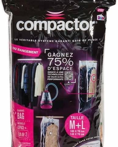Sada 2 vakuových obalů na oblečení Compactor Clear