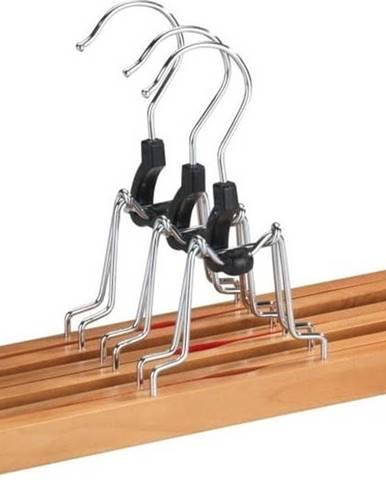 Sada 3 dřevěných ramínek na kalhoty Wenko Clamping Hanger