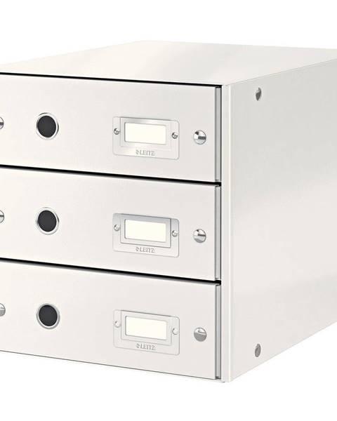 Leitz Bílý box se 3 zásuvkami Leitz Office, 36 x 29 x 28 cm