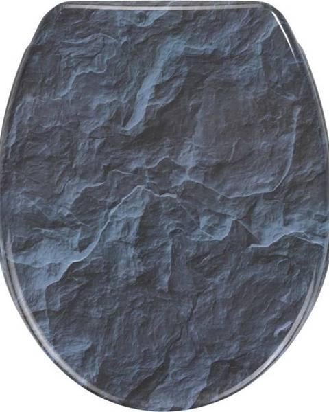WENKO WC sedátko se snadným zavíráním Wenko Slate Rock, 44,5 x 36,5 cm