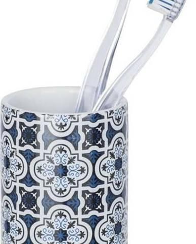 Modrý keramický kelímek na kartáčky Wenko Murcia