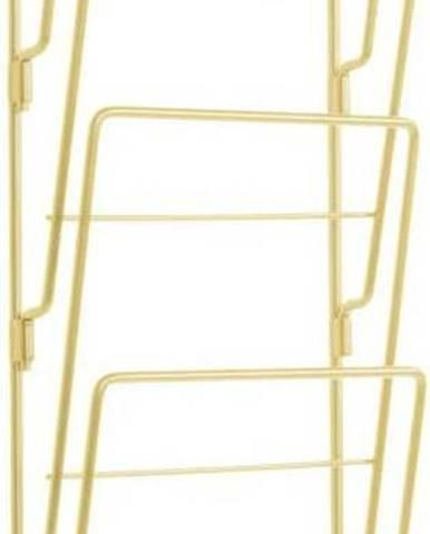Nástěnný držák na časopisy z pozinkované oceli ve zlaté barvě PT LIVING Magazine