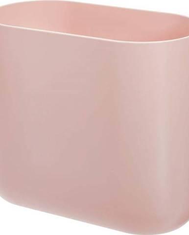 Růžový odpadkový koš iDesign Slim Cade