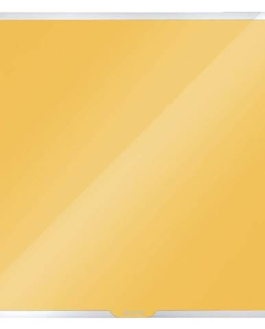 Žlutá magnetická skleněná tabule na zeď Leitz Cosy, 45 x 45 cm