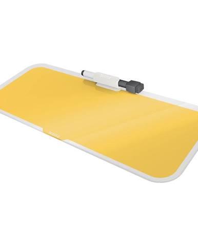 Žlutá skleněná tabulka na poznámky Leitz Cosy