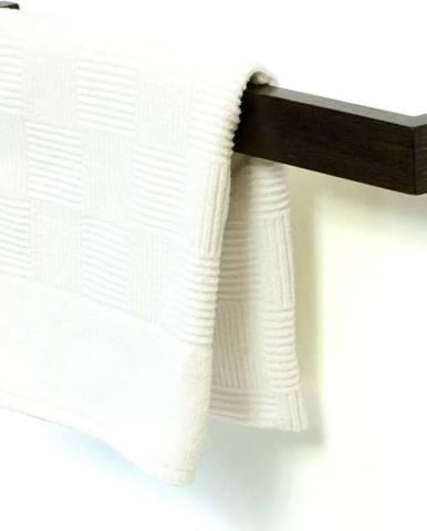 Nástěnný držák na osušky z dubového dřeva Wireworks Mezza Dark, délka 60 cm