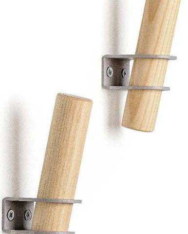 Sada 2 háčků z jasanového dřeva s šedým držákem EMKO Torch