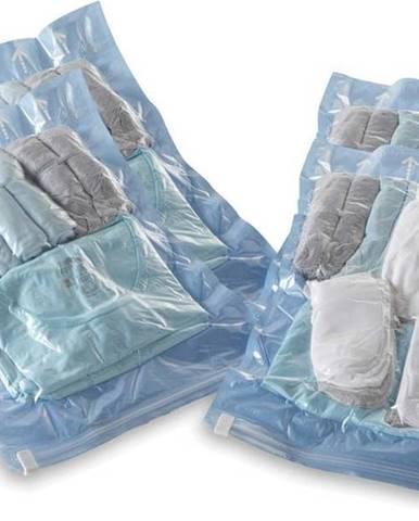 Sada 4 srolovatelných vakuových úložných obalů na oblečení Compactor Roll Up Vacuum Bags, 50 x 35 cm