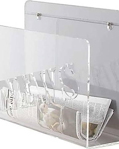 Transparentní nástěnný držák na noviny a časopisy Tomasucci