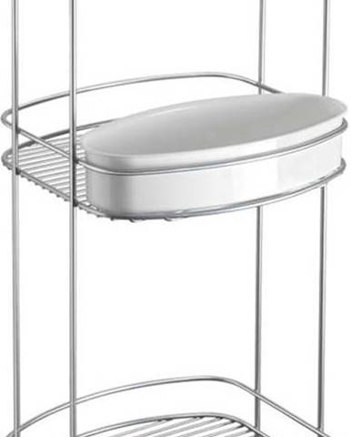Třípatrový stojan do koupelny Metaltex, výška 65 cm
