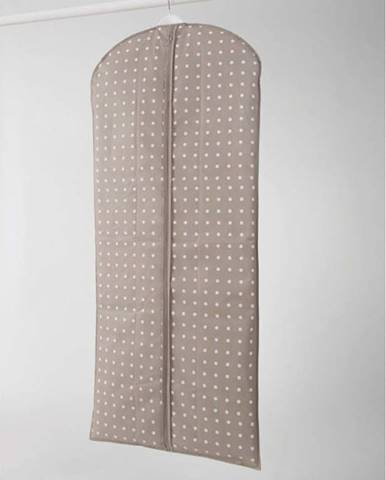 Béžový obal na šaty Compactor Dots, 137cm