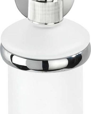 Bílý nástěnný dávkovač na mýdlo s držákem z nerezové oceli Wenko Cuba