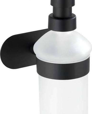 Nástěnný dávkovač na mýdlo s matně černým držákem z nerezové oceli Wenko Orea Turbo-Loc®