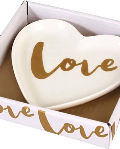 Ozdobný porcelánový talířek Rex London Love Heart