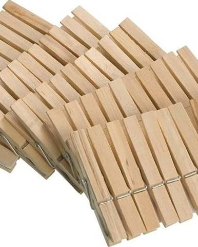 Sada 50 dřevěných kolíčků na prádlo Wenko Pegs