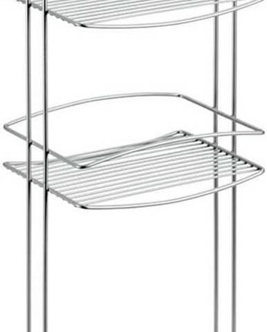 Třípatrový stojan do koupelny Metaltex Onda, výška 77 cm