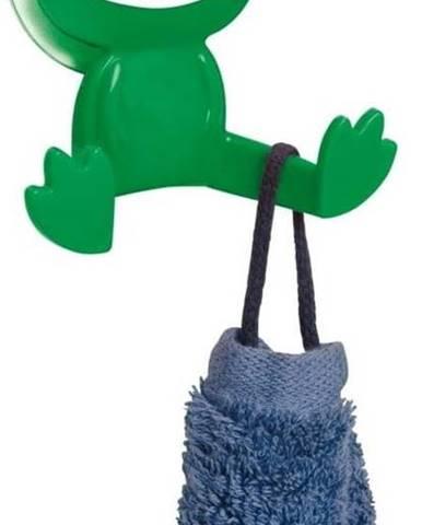 Zelený nástěnný háček Wenko Frog