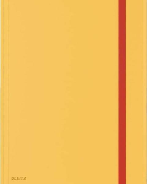 Leitz Žluté kancelářské desky s 3 chlopněmi Leitz Cosy, A4