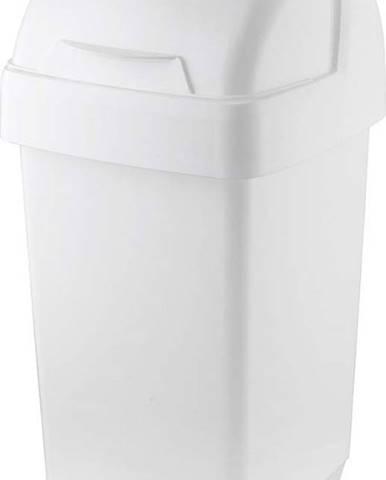 Bílý odpadkový koš Addis Roll Top, 22,5 x 23 x 42,5 cm