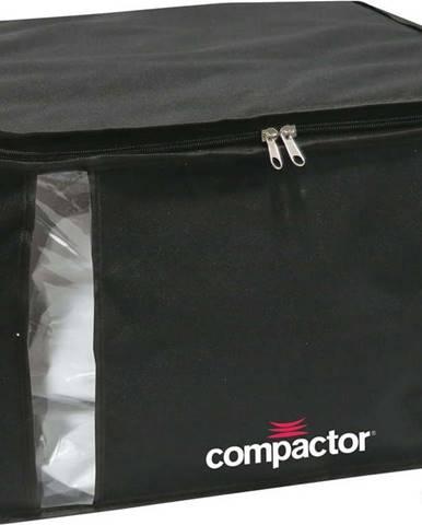 Černý úložný box na oblečení Compactor XXL Black Edition 3D Medium, 125 l