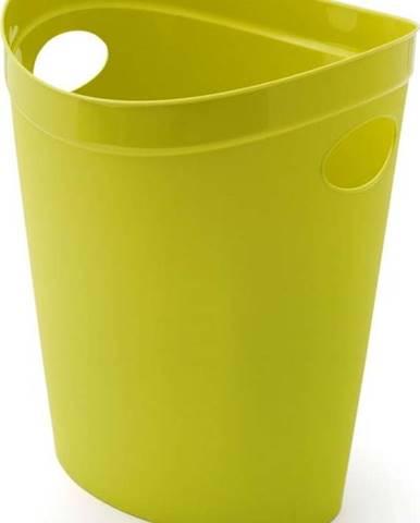 Limetkově žlutý odpadkový koš na papír Addis Flexi, 27 x 26 x 34 cm