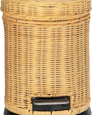 Pedálový odpadkový koš s proutěným povrchem Wenko Manilla, 3l