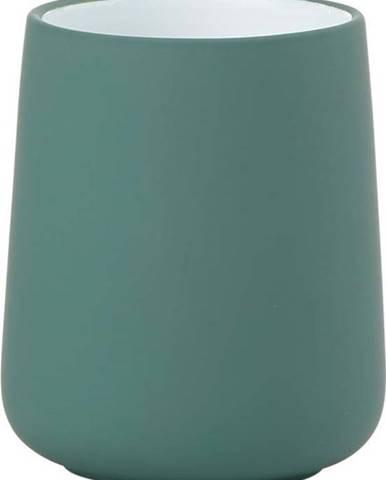 Petrolejově zelený porcelánový kelímek na zubní kartáčky Zone Nova