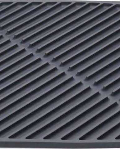 Tmavě šedá odkapávací podložka Joseph Joseph Flume, 31x31cm