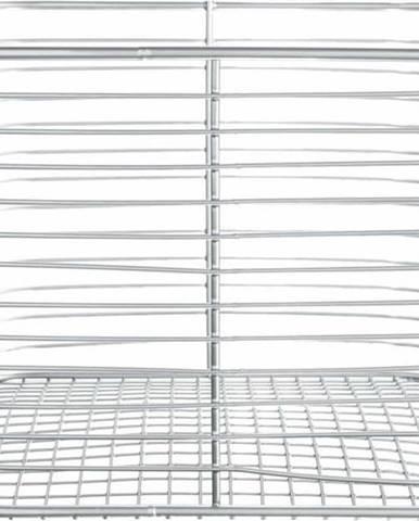 Úložný košík stříbrné barvy iDesign Vienna, 23,8 x 18,6 cm
