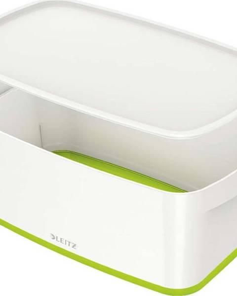 Leitz Bílo-zelený úložný box s víkem Leitz Office, objem 5 l