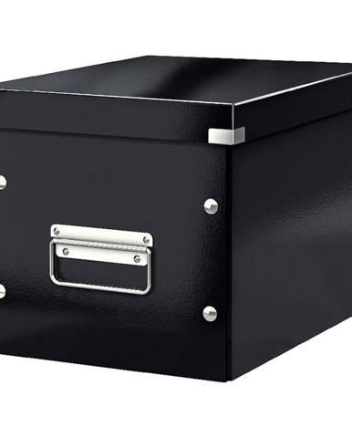 Černá úložná krabice Leitz Office, délka 26 cm