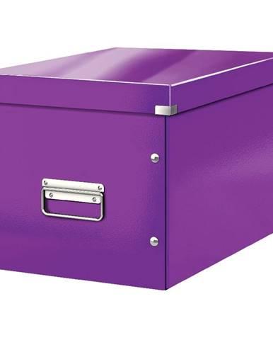 Fialová úložná krabice Leitz Office, délka 36 cm