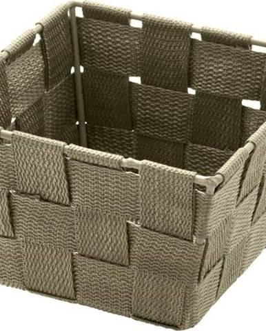 Hnědobéžový úložný košík Wenko Adria, 14 x 14 cm